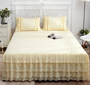 Sheets Lace Bed Skirt summer one piece Korean Princess bedspread sheet fitted sheet Simmons bedspread protective cover