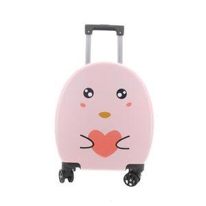 Children's Trolley Little Penguin 18 Inch Suitcase Universal Wheel Cartoon Board Case