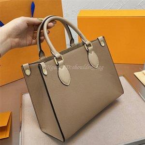 2021 Borse Handbags Luxurys Famosi Designer Donne GRAFFITI ONTHEGO Borsa One inclinato Spalla Mummia Borsa Stampa Pressione Pure Color Cross Body
