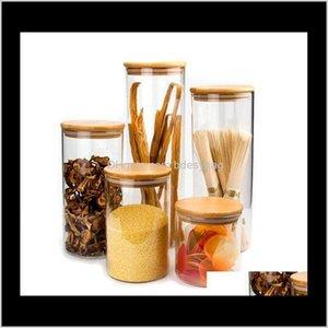 하우스 키핑 조직 홈 가든트 랜스 부모 스토리지 Corks ER 항아리 모래 액체 식품 에코 - 친화적 인 유리 병 대나무