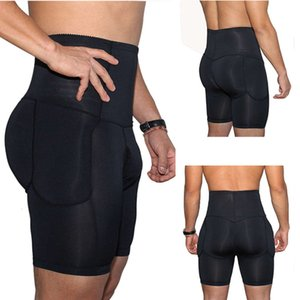 Slimming Body Shaper Boxer Control Panties Men's High Waist Underwear Plus Size Padded Shapers S-3XL