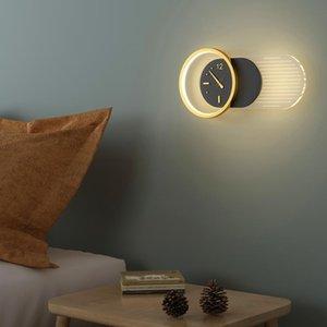 Wall Lamps Modern LED For Home Entrance Bedroom Living Room Luster Clock Shape AC85-260V Drop Indoor Lighting Lights