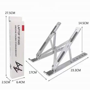 Creative Folding Bracket Aluminum alloy Stand 10-15.6 inches Laptop Mounts 6-position adjustable height Portable Holder