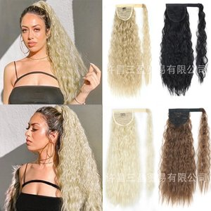 Corn Wig Winding Velcro Bandage Small Ripple Long Curly Hair High Chemical Fiber Ponytail