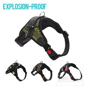 Dog Collars & Leashes Harness Collar Explosion-Proof Adjustable Vest For Big Dogs Harnesses Husky Walking Running Outdoor Pet Products