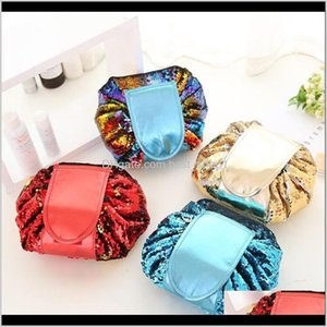 Handbags Bags Aessories Baby, Kids & Maternity Drop Delivery 2021 Magic Mermaid Sequins Travel Pouch Lazy Dstring Makeup Bag Women Organizer