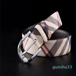 top mens designer belts High quality jeans casual belt Mens plaid business belt