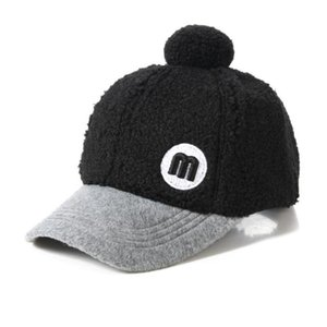 Shade Doitbest Winter Child Baseball Cap 2 to 8 Years old Lamb wool M letter embroidery kids Hats Boy Girl Caps snapback hat