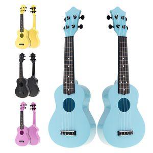 21 Inch Soprano Colorful Acoustic Ukulele Uke 4 Strings Hawaii Guitar Guitarra Instrument for Kids and Music Beginner