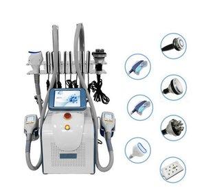 7 en 1 Cryolipolysis Cryo Forme Cryothérapie Taille minceur 40K Cavitation RF Visage de la graisse Frail Machine laser lipo