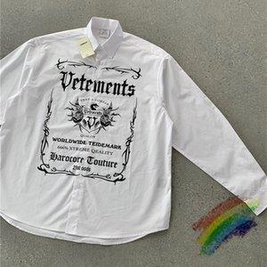 2021ss Shirts Men Women 1 High Quality Pattern Print Oversize Blouse
