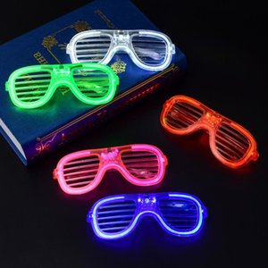 Party Supplies Halloween LED Shutter Glasses Full Light star Square Clover Love Glass fashion for Club RH1926
