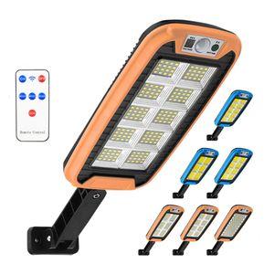 240COB Solar Street Lights Outdoor Security Wall Lamp Waterproof PIR Motion Sensor Smart Remote Control Led lighting