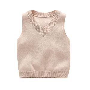 Vest Spring 2021 Children's Sweater Cotton Knitted CHD20233