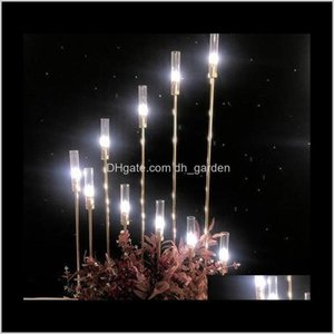 Metal Candlesticks Flower Vases Candle Holders Wedding Table Centerpieces Candelabra Pillar Stands Party Decor Road Lead Eea484A Zmp3R 7Ghrh
