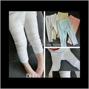 Tights Spring Summer Sell Pierced Thin Mosquito Candy Color Small Foot Leggings Girls Pants Cotton Children Clothing B4708 Qh8T7 Locem