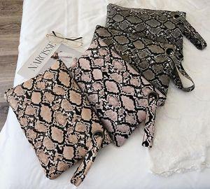 Design luxury handbag DHL 50pcs Women PU snakeskin grain Print Evening Cosmetic Bags Ladies Retro Zipper Coin Purses 4colors