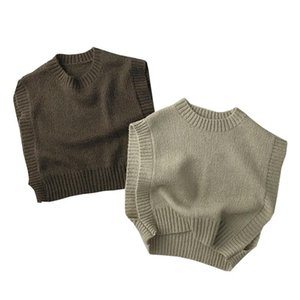 Pullover Sleeveless Fashion Girls Sweater Vests Cotton Winter Boys Knitwear Fall Clothes For Kids Toddler