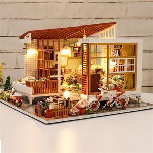 Cutebee Casa Doll House Furniture Miniature Dollhouse DIY Miniature House Room Box Theatre Toys for Children Casa Dollhouse A04B Y200413