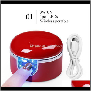 Manicure Multicolor Portable Potherapy Machine Mini Quickdrying Small Lamp One Finger Polish Glue Special V2Go Dryers Ik5Ya