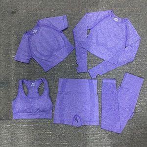Tracksuits Fashion Designer Womens Cotton Yoga Suit Gymshark Sportwear Fitness Sports five Piece set 5PCS bra Leggings outfits yogaworld