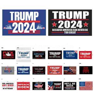 46 Дизайн Прямой завод 3x5 FT 90 * 150 см Сохранить Америку снова Трамп Флаг на 2024 президент США DHL 3-7 дней судов