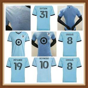 لاعب نسخة MLS 2021 2022 FC مينيسوتا يونايتد لكرة القدم جيرسي جريجوس رينوسو داتسون ميتانير أماريلا أوبارا لكرة القدم قمصان الكبار رجالي