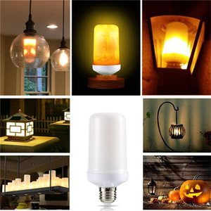 Bulbs Dynamic Flame Effect Fire Light Bulb E27 E14 B22 LED Lamp 110V 220V 9W Emulation Burning Flicker Lantern Holiday Decoration