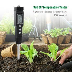 Meters EC TEMP Soil Tester 0.00-10.00 MS cm Hand Digital Garden Meter Tools Potted Plants Gardening Agriculture