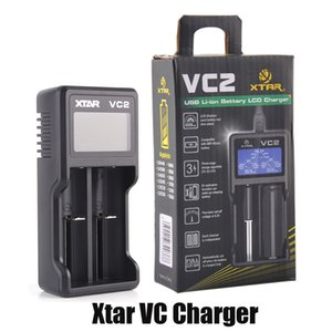 Authentic Xtar VC2 Battery Charger Inteligent Mod Dual Slot with LCD Display for 18350 18550 18650 16650 Li-ion Batteries 100% Genuine
