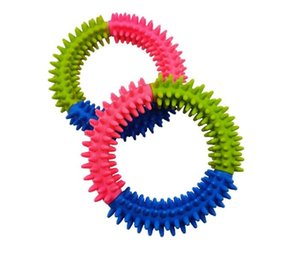Colorful Dog's Toys Pet Traning Products Resistance To Bite Embossment Spinose Ring Tpr Rubber Toys For Dogs Supplies 432 V2