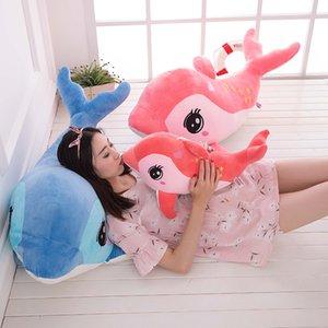 Muñecas Pink Little Dolphin Children Toys Toys Pequeña Muñeca Preciosa Almohada Dormir Chica en la cama