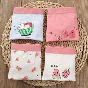 4pcs lot Girls Underwear Teenage Pure Cotton Panties Girl Watermelon Print Boxers Children Princess Shorts Underpants Baby 2131 Q2