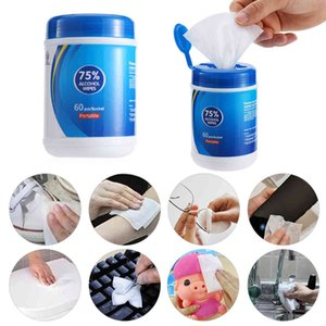 75% Alcohol Wet Wipes with 60 Pcs Clean Disinfecting Wipes