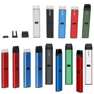 Disposable E cigarettes Empty Pod Starter Kit Thick oil Vaporizer Rechargeable 1.0ml Ceramic Cartridges Vape Pen 210mAh Battery Vapes Closed Pods System OEM Logo