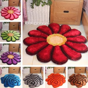Carpets High Quality Acrylic Round 3D Flower Kids Room Play Area Rugs Child Bedroom Computer Chair Hanging Basket Cloakroom Mats