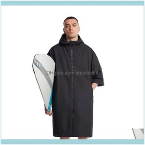 Swimming Equipment Sports & Outdoorshiturbo Diving Changing Robe Outdoor Long Anorak Waterproof Windproof Beach Surfing Poncho Er-Ups Drop D