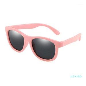 Поляризованные дети Солнцезащитные очки Дети TR90 Солнцезащитные Очки Мальчики Девочки Глаз Стекло Ребея Силиконовая Рама Безопасность Детские оттенки UV400 Eyewear1