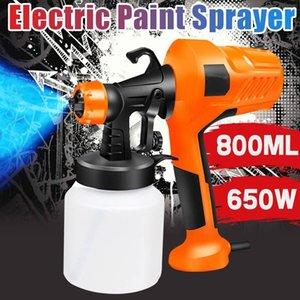 Dillpro 2.5MM Nozzle Spray Guns Paint 650W 220V 800ML High Power Spray Guns Home Electric Paint Sprayer Easy Spraying Clean 210430