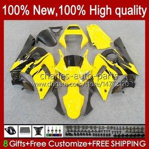 BodysKitForYAMAHAYZFR6R698-02YZFR69899000102Bodywork1No.59YZF600CCYZF-600YZF-R6YZF600600CC19981999200020012002ABSFullFairing yellow stock blk