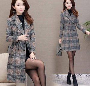 Women's Wool & Blends Autumn And Winter Windbreaker Jacket Mid-length Korean Style Slim Thin Plus Size Woolen Coat