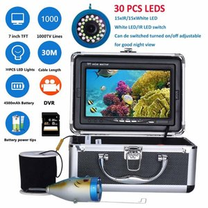 Fish Finder PDDHKK 7inch Underwater Fishing Camera DVR Recorder 15 IR LEDs Plus White 1000TVL 90 Degree View Angle