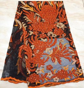 Ribbon Velvet Lace Fabric For Dress Nigerian French Tulle Fabrics 2021 High Quality African TS9150