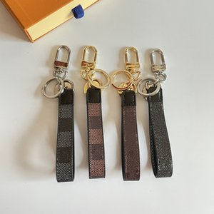 Luxury Keychain For Men Key Chain & Ring Holder Brand Designer Gift Box Women Car Keychains Leather