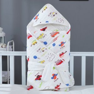 born Swaddling Muslin Swaddle Baby Blanket Hooded Bath Towels Kids Bathroom Towel Cartoon Quilt Children Shower Product