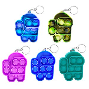 Push Pop Bubble Sensory Toy Push Bubble Sensory Pop Its Fidget Toy Relief Stress Relief Keychain Gift Bag Filler DHL Free