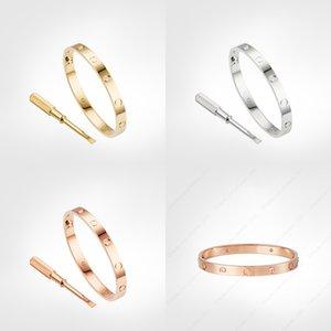 Bileklik Aşk Vida Bilezik 4 Elmaslar Klasik Tasarımcı 5.0 Altın Bilezikler Takı Kadın Titanyum Çelik Altın Kaplama Asla Asla Alerjik Değil
