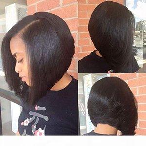 Human Hair U Part Bob Wigs for Black Women Brazilian Virgin Straight Short Bob Upart Wig Glueless Left Part U-part Wigs