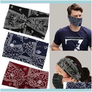 Bands Fitness Supplies Sports & Outdoorsunisex Paisley Print Stretch Button Wide Headband Anti-Leash Mask Hair Band Sweat Absorbent Skin-Fri