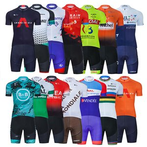 2021 Cycling Team Jersey 20D Bike Shorts Set Ropa Ciclismo MenS MTB Summer Pro Bicycling Maillot Bottom Clothing